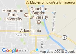 Map of Ouachita Baptist University