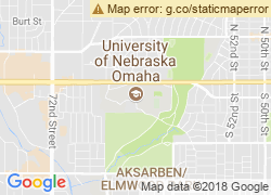 Map of University of Nebraska at Omaha