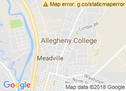 Map of Allegheny College