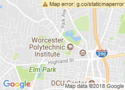 Map of Worcester Polytechnic Institute