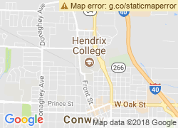 Map of Hendrix College