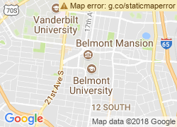 Map of Belmont University
