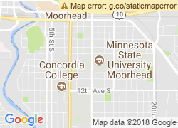 Map of Minnesota State University Moorhead
