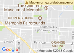Map of University of Memphis
