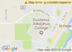Map of Gustavus Adolphus College