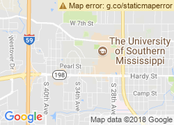 Map of University of Southern Mississippi