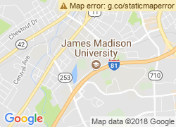 Map of James Madison University