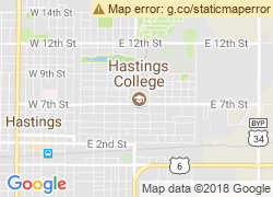 Map of Hastings College