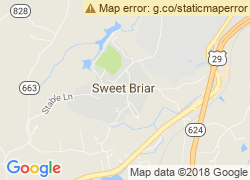 Map of Sweet Briar College