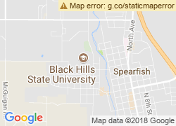 Map of Black Hills State University