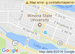 Map of Winona State University