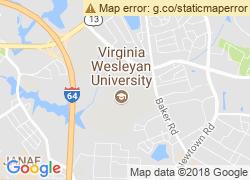 Map of Virginia Wesleyan College