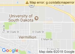 Map of University of South Dakota