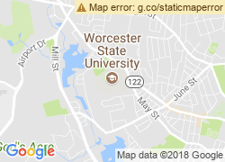 Map of Worcester State University