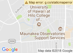 Map of University of Hawaii at Hilo