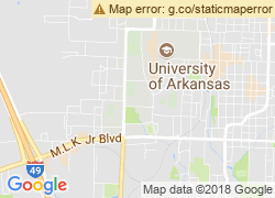 Map of University of Arkansas