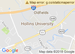 Map of Hollins University