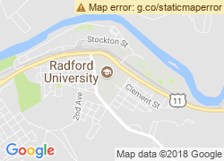 Map of Radford University