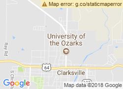 Map of University of the Ozarks