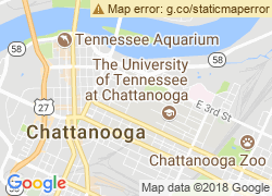 Map of The University of Tennessee at Chattanooga